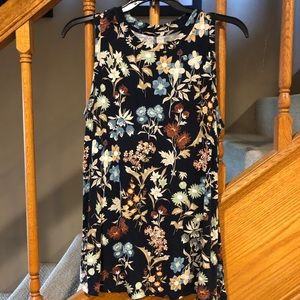 Maurices high neck floral tank.